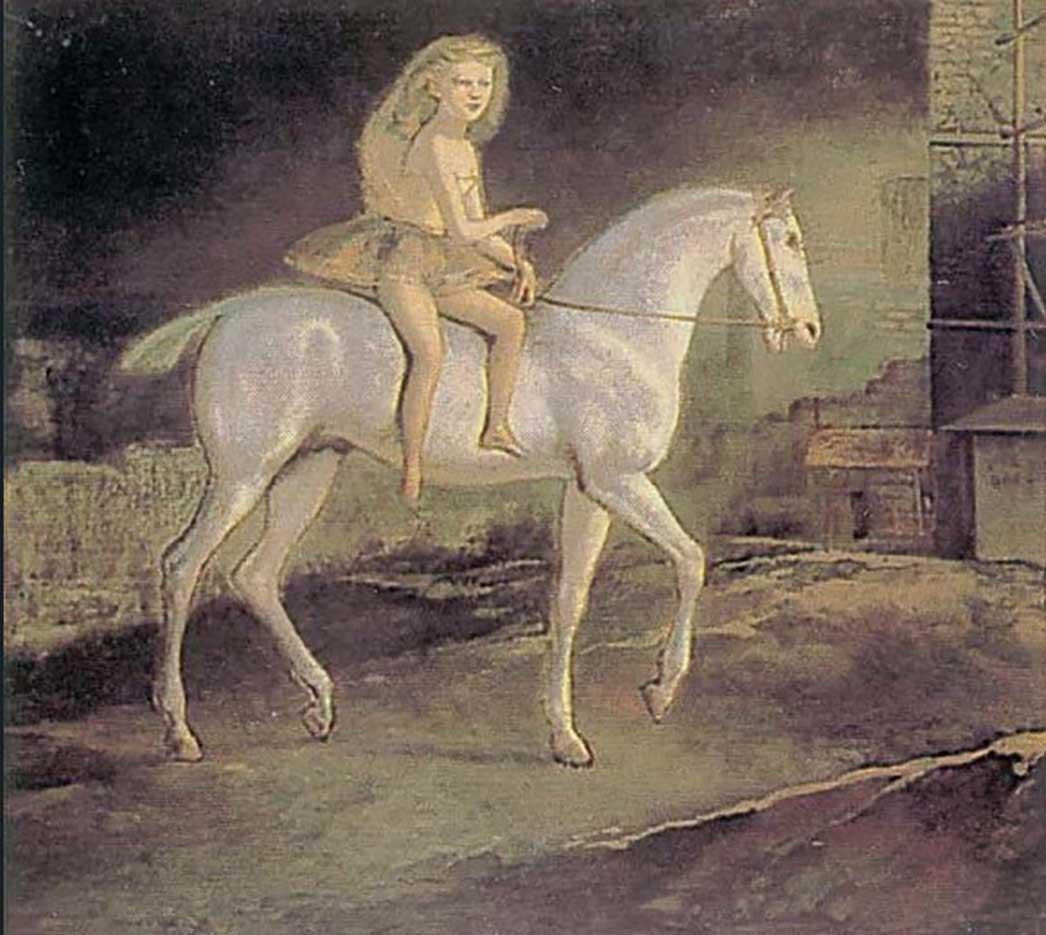 "Бальтюс (Бальтазар Клоссовски де Рола), Balthus (Balthasar Kłossowski de Rola) ""Girl on a white horse"""