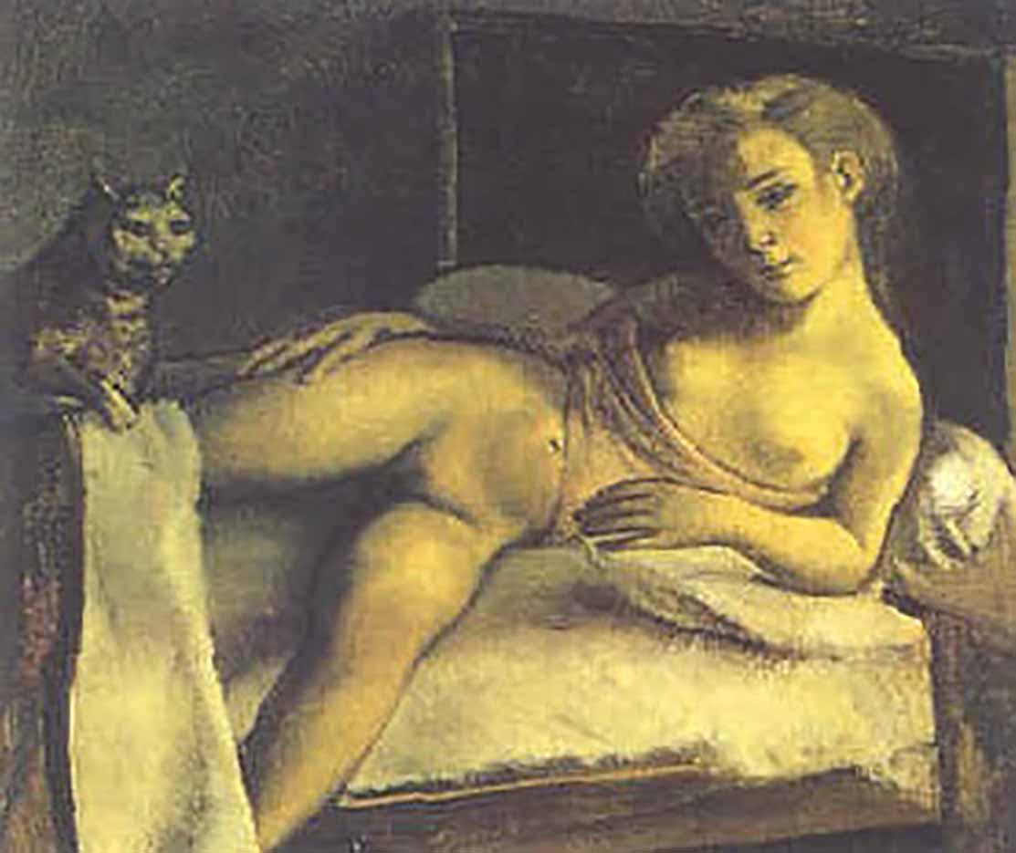 """Бальтюс (Бальтазар Клоссовски де Рола), Balthus (Balthasar Kłossowski de Rola) """"Girl on a Bed"""""""