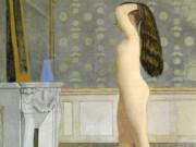 """Бальтюс (Бальтазар Клоссовски де Рола), Balthus (Balthasar Kłossowski de Rola) """"Figure in Front of a Mantel"""""""
