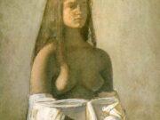 "Бальтюс (Бальтазар Клоссовски де Рола), Balthus (Balthasar Kłossowski de Rola) ""Young girl with white skirt"""