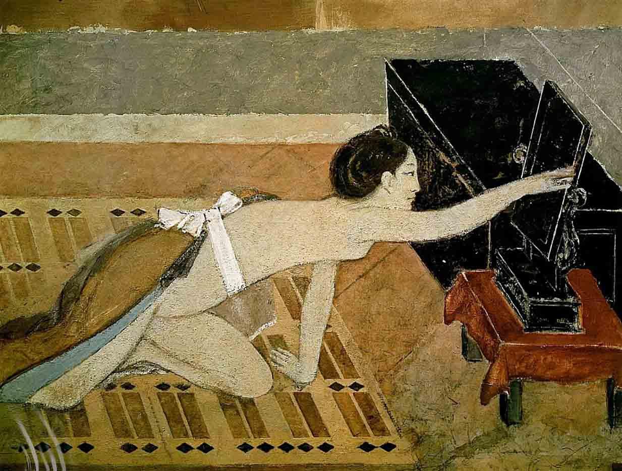 "Бальтюс (Бальтазар Клоссовски де Рола), Balthus (Balthasar Kłossowski de Rola) ""Japanese Girl with a Black Mirror"""