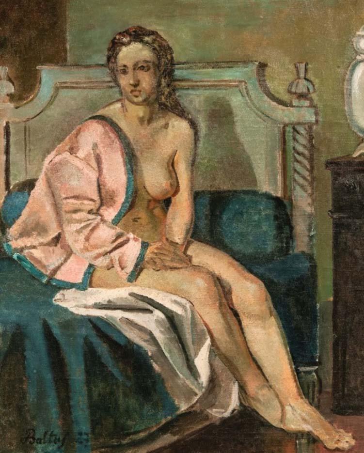 """Бальтюс (Бальтазар Клоссовски де Рола), Balthus (Balthasar Kłossowski de Rola) """"Nu à la veste rose, la rêveuse"""""""