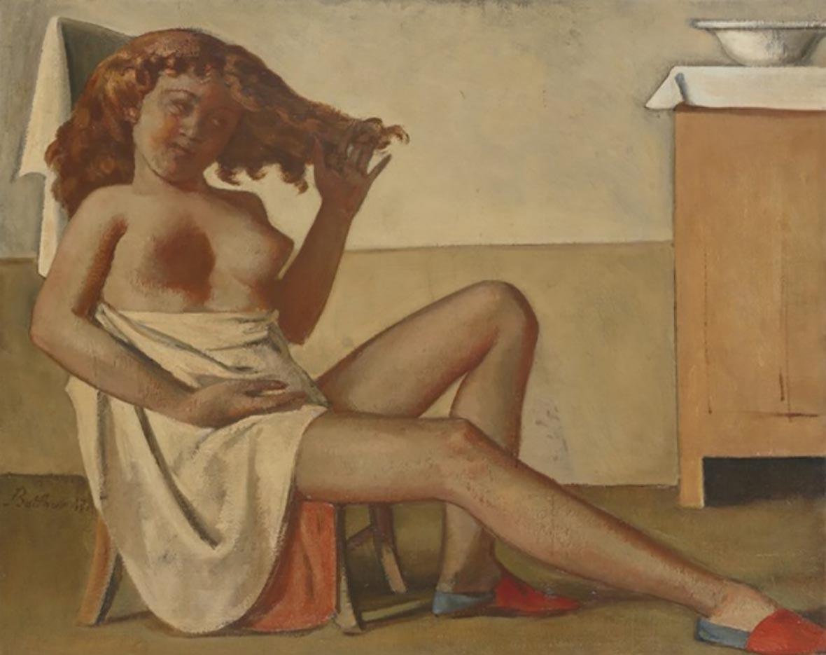 "Бальтюс (Бальтазар Клоссовски де Рола), Balthus (Balthasar Kłossowski de Rola) ""Adolescente Aux Cheveux Roux"""