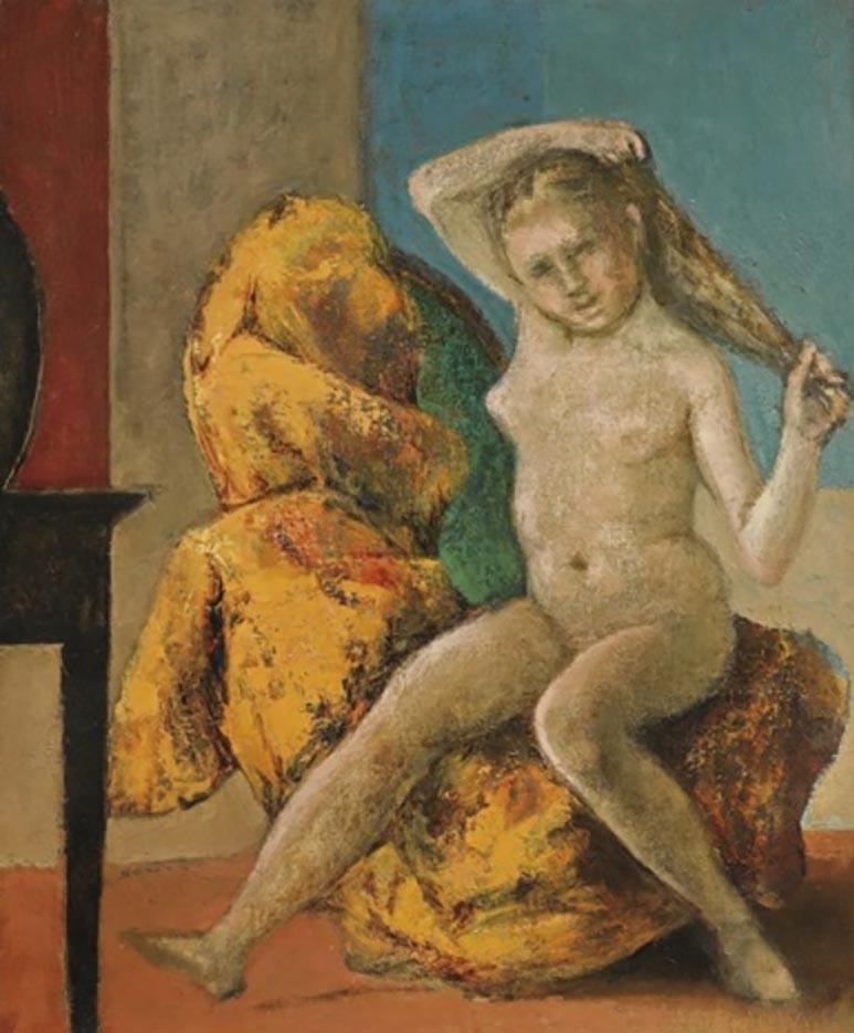 """Бальтюс (Бальтазар Клоссовски де Рола), Balthus (Balthasar Kłossowski de Rola) """"Petit nu à la coiffeuse"""""""