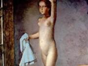 """Бальтюс (Бальтазар Клоссовски де Рола), Balthus (Balthasar Kłossowski de Rola) """"Nude with a Silk Scarf"""""""