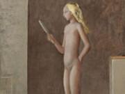 """Бальтюс (Бальтазар Клоссовски де Рола), Balthus (Balthasar Kłossowski de Rola) """"Nu au mirroir"""""""