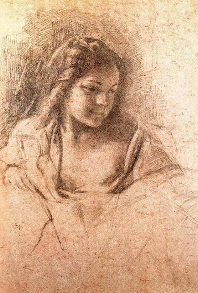 """Бальтюс (Бальтазар Клоссовски де Рола), Balthus (Balthasar Kłossowski de Rola) """"Bust of the young girl"""""""