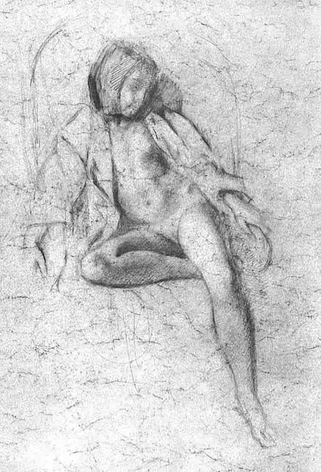 """Бальтюс (Бальтазар Клоссовски де Рола), Balthus (Balthasar Kłossowski de Rola) """"Study for the painting """"Nude Resting"""""""""""
