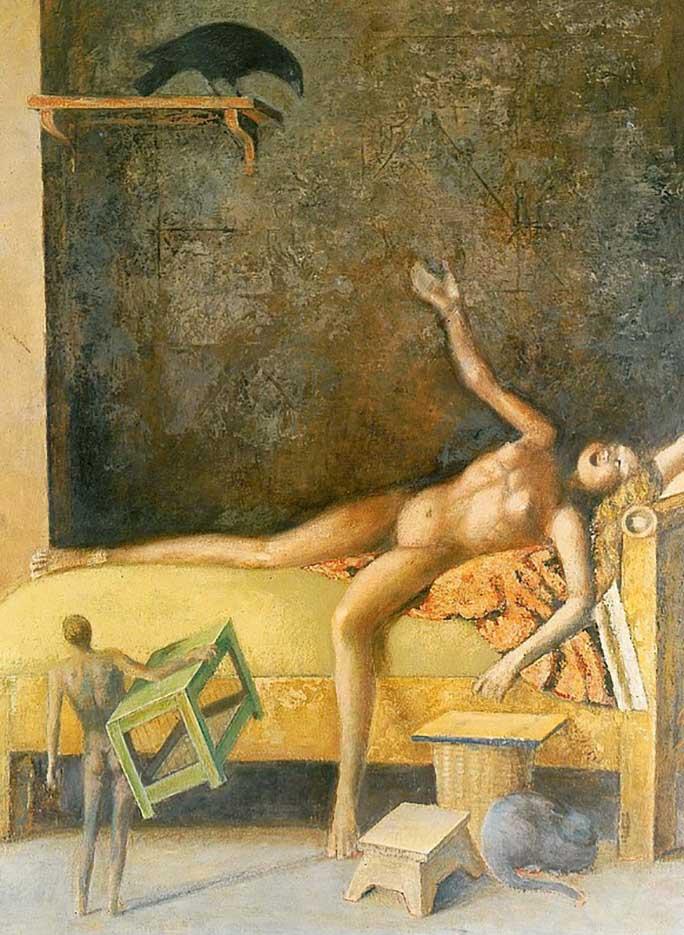 """Бальтюс (Бальтазар Клоссовски де Рола), Balthus (Balthasar Kłossowski de Rola) """"Great composition with corbel"""""""