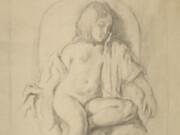 """Бальтюс (Бальтазар Клоссовски де Рола), Balthus (Balthasar Kłossowski de Rola) """"Etude pour Nu au repos"""""""