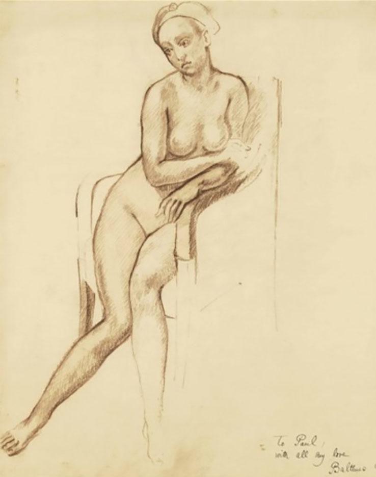"""Бальтюс (Бальтазар Клоссовски де Рола), Balthus (Balthasar Kłossowski de Rola) """"Nu assis"""""""