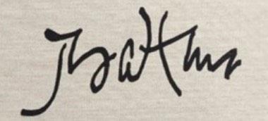 """Бальтюс (Бальтазар Клоссовски де Рола), Balthus (Balthasar Kłossowski de Rola) """"Signature"""""""