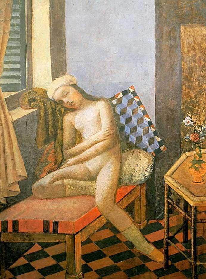 """Бальтюс (Бальтазар Клоссовски де Рола), Balthus (Balthasar Kłossowski de Rola) """"Sleeping Nude"""""""