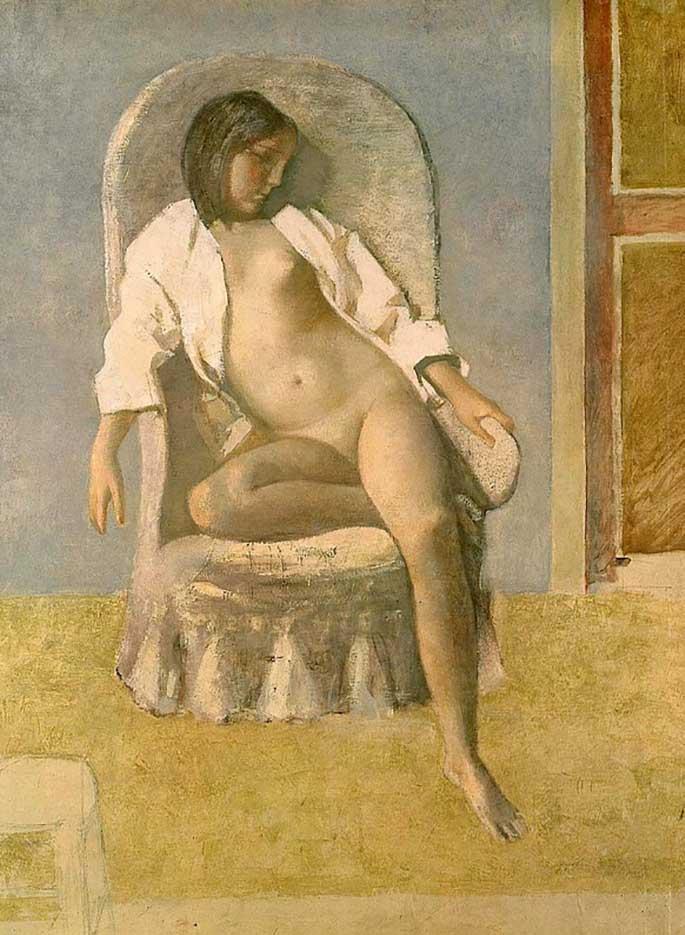 """Бальтюс (Бальтазар Клоссовски де Рола), Balthus (Balthasar Kłossowski de Rola) """"Nude at Rest"""""""