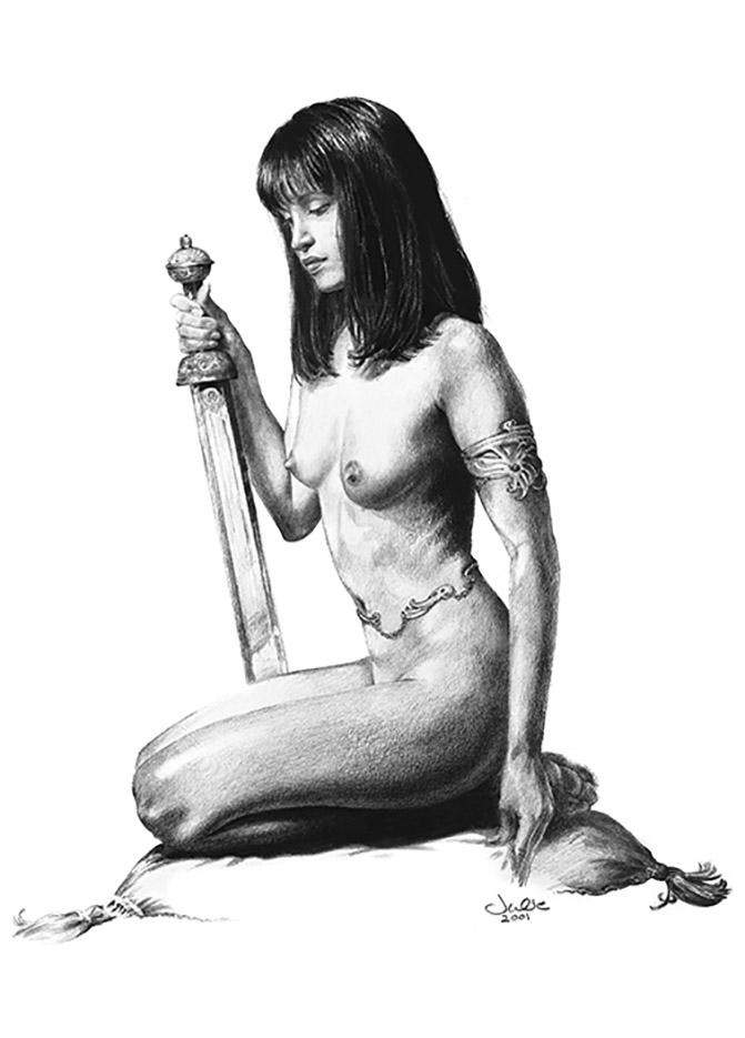 "Джули Белл (Julie Bell) ""By The Sword"" (Drawing)"