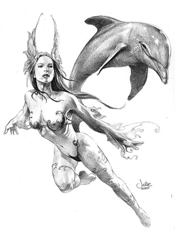 "Джули Белл (Julie Bell) ""Ocean Fairy"" (Drawing)"