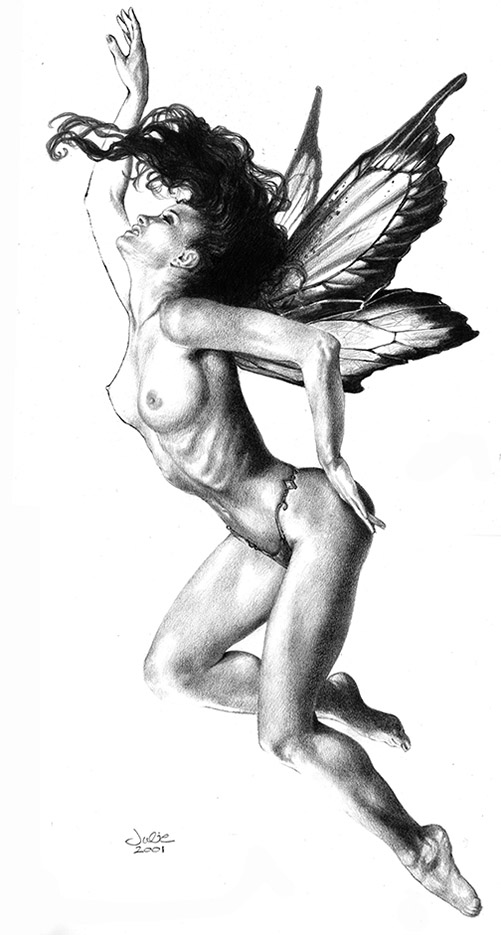 "Джули Белл (Julie Bell) ""Russian Fairy"" (Drawing)"