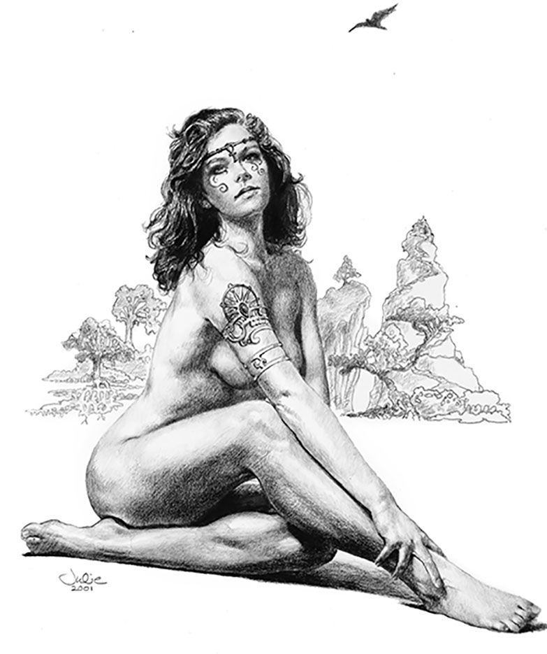 "Джули Белл (Julie Bell) ""Enchantress"" (Drawing)"