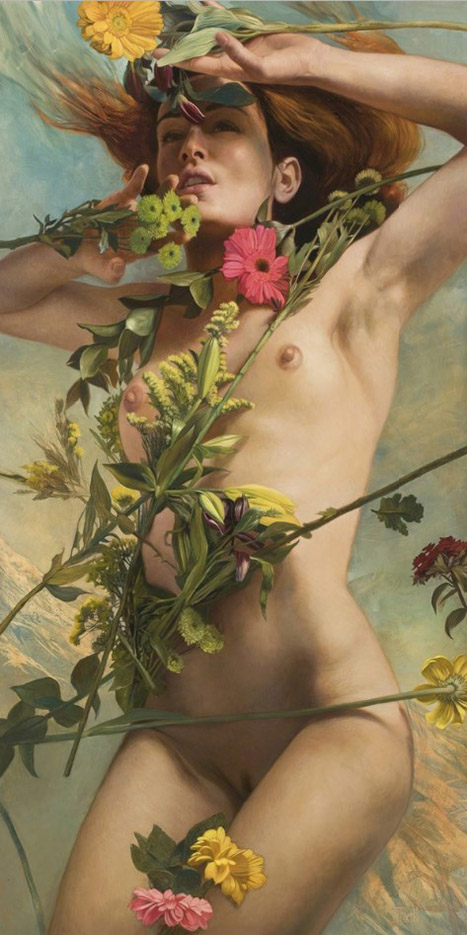 "Джули Белл (Julie Bell), ""Venus Clothed in Floers"""