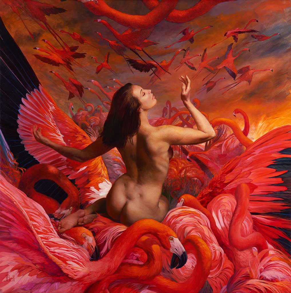 "Джули Белл (Julie Bell), ""Flamingo Sunrise"""