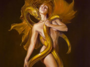 """Джули Белл (Julie Bell), """"Golden Lover"""""""