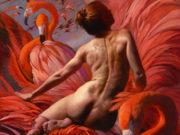 """Джули Белл (Julie Bell), """"Flamingo Garden"""""""