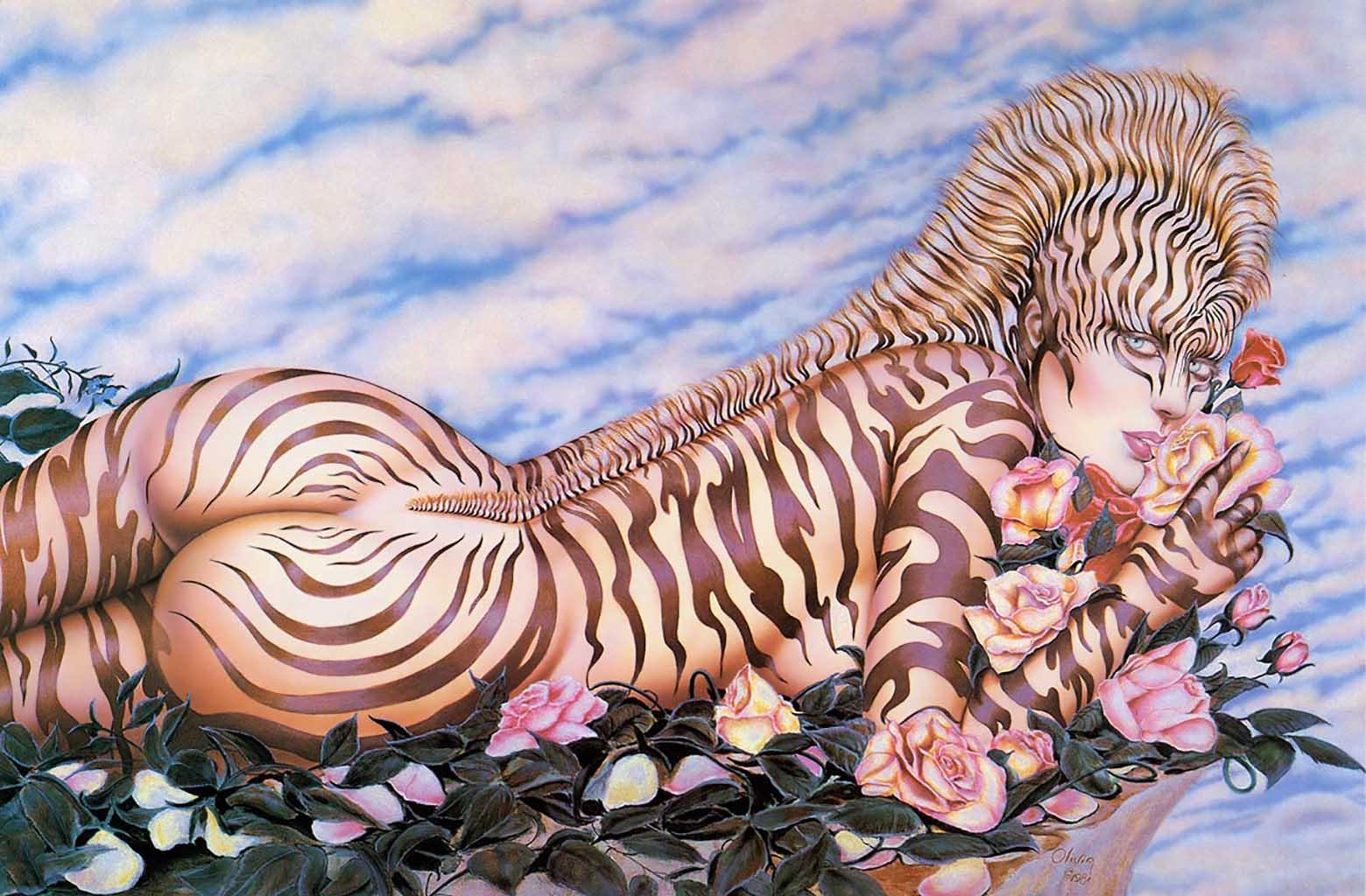"""Оливия де Берардинис (Olivia de Berardinis), """"Zebra Lady Two"""""""