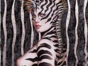 "Оливия де Берардинис (Olivia de Berardinis), ""Zebra Lady III"""