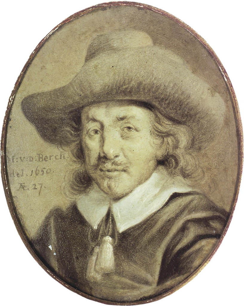 "Николас Питерс Берхем (Nicolaes Pieterszoon Berchem) ""Portrait of Nicolaes Berchem by Jan Stolker"""