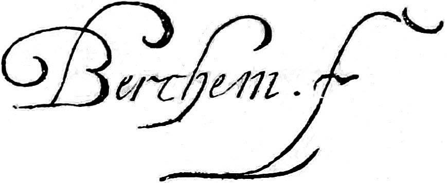 "Николас Питерс Берхем (Nicolaes Pieterszoon Berchem) ""Signature"""