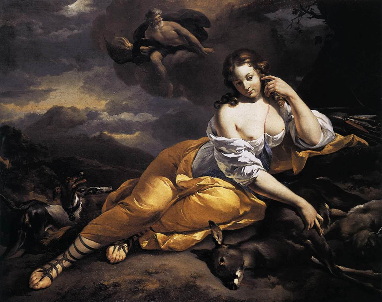 "Николас Питерс Берхем (Nicolaes Pieterszoon Berchem) ""Jupiter Notices Callisto"""