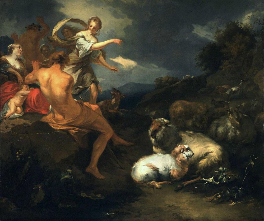 "Николас Питерс Берхем (Nicolaes Pieterszoon Berchem) ""Jupiterovo detsvi"""