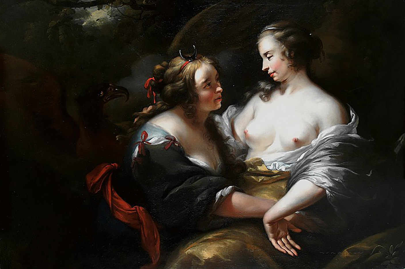 "Николас Питерс Берхем (Nicolaes Pieterszoon Berchem) ""Jupiter Disguized As Diana Seducing The Nymph Callisto"""