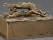 "Франц Ксавьер Бергман (Franz Xavier Bergman) ""Erotic bronze mechanical box"""