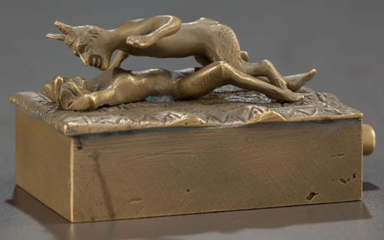 "Франц Ксавьер Бергман (Franz Xavier Bergman) ""Erotic bronze mechanical box"""