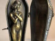 "Франц Ксавьер Бергман (Franz Xavier Bergman) ""Modelled as an Egyptian 'Mummy' Sarcophagus with Nude"""
