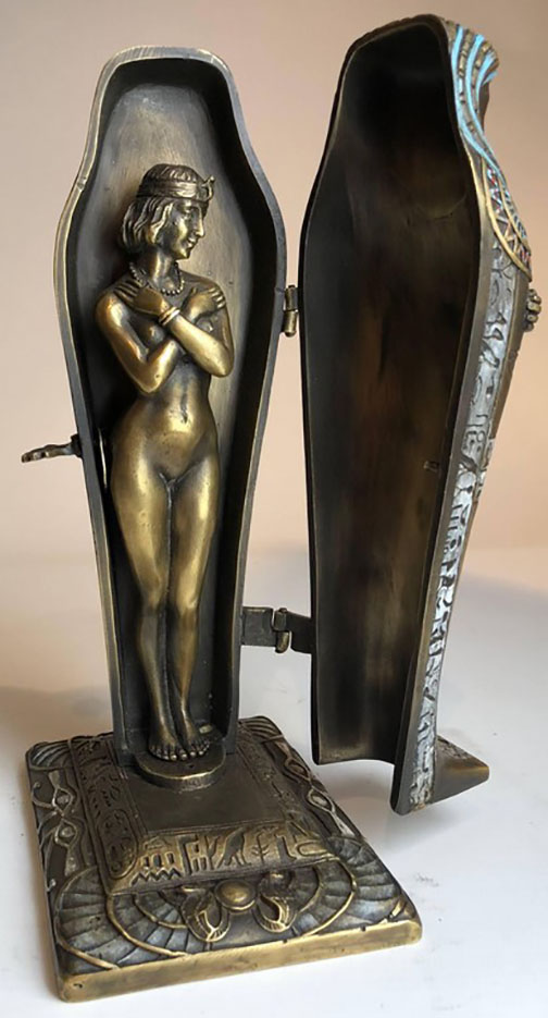 "Франц Ксавьер Бергман (Franz Xavier Bergman) ""Modelled as an Egyptian 'Mummy' Sarcophagus with Nude"""