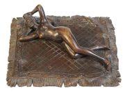 "Франц Ксавьер Бергман (Franz Xavier Bergman) ""Nude beauty reclined on a Persian rug"""