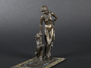"Франц Ксавьер Бергман (Franz Xavier Bergman) ""Slave holding a panther on a leash"""