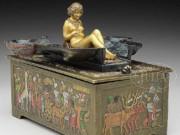 "Франц Ксавьер Бергман (Franz Xavier Bergman) ""Cold painted naughty bronze Egyptian box with Sphynx"""