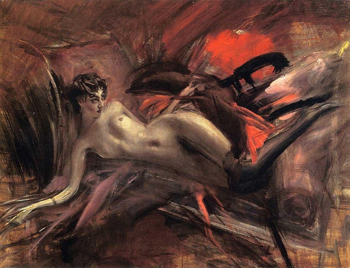 "Джованни Больдини (Giovanni Boldini), ""Reclining Nude - 2"""