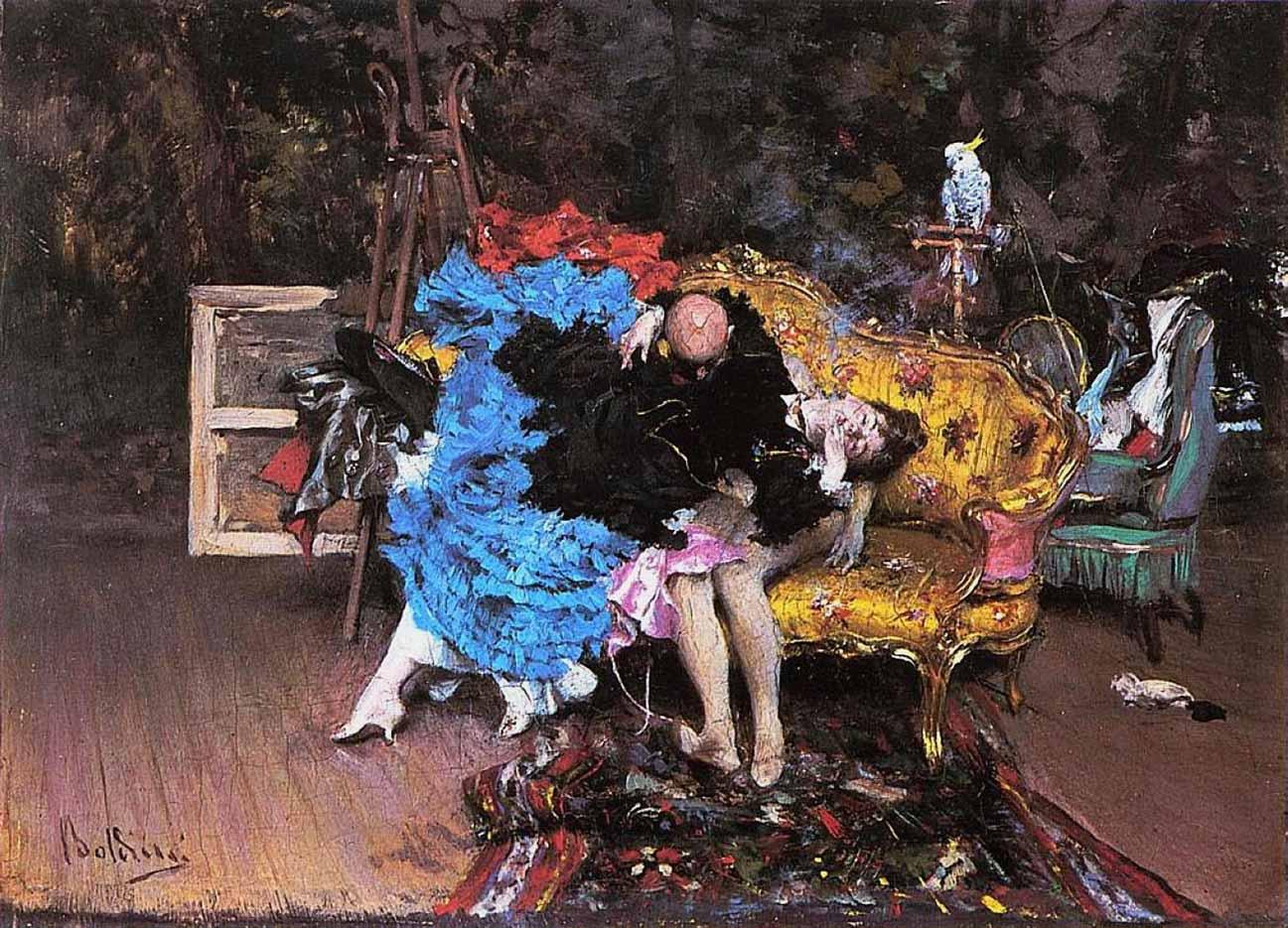 "Джованни Больдини (Giovanni Boldini), ""Модель и манекен"""