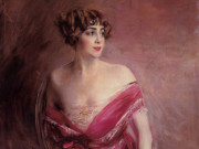 """Джованни Больдини (Giovanni Boldini), """"Портрет мадмуазель де Жийеспи - госпожи де Биарриц"""""""