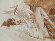 "Джованни Больдини (Giovanni Boldini), ""Reclining Lady"""