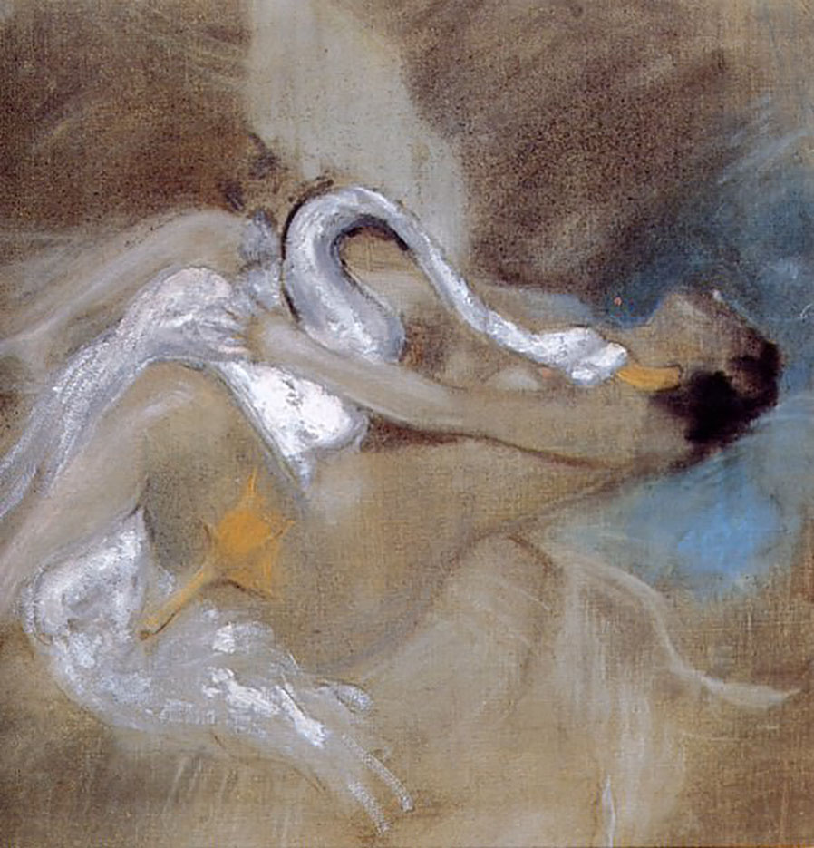 "Джованни Больдини (Giovanni Boldini), ""Leda with Swan"""