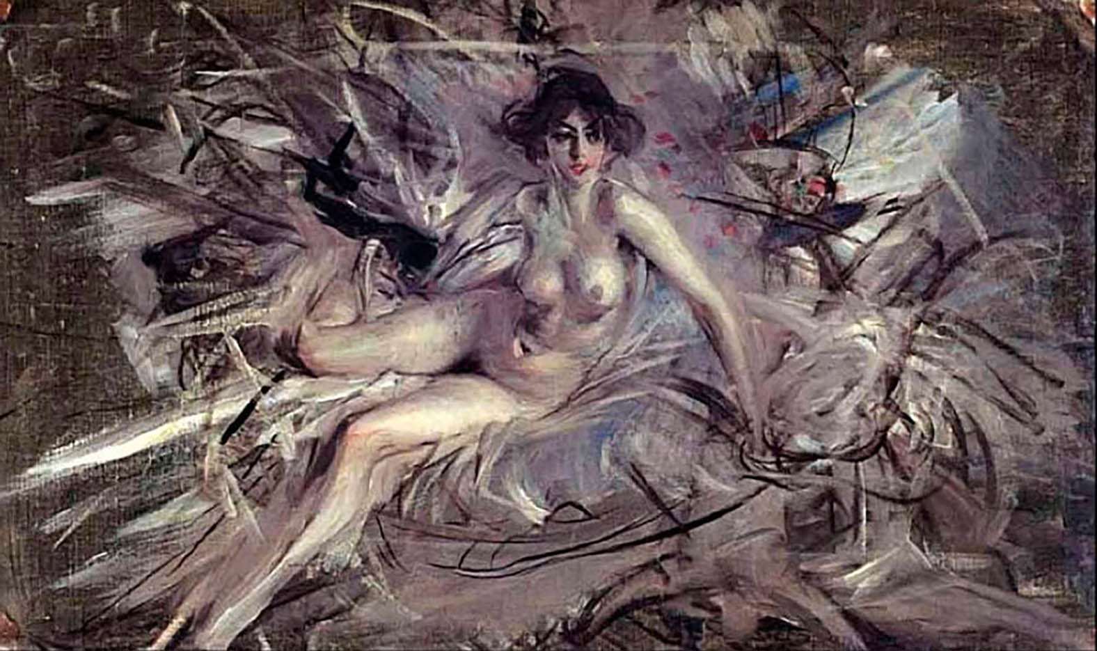 "Джованни Больдини (Giovanni Boldini), ""Nude of Young Lady Couch"""
