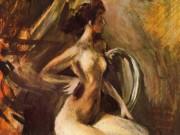 "Джованни Больдини (Giovanni Boldini), ""Nude Casting Off"""