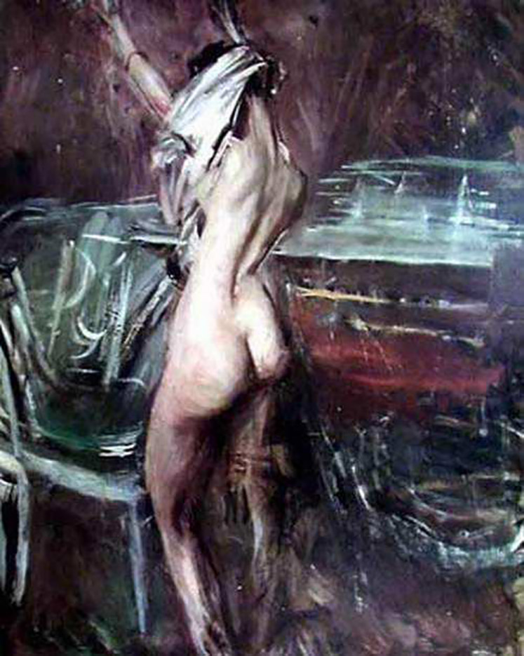 "Джованни Больдини (Giovanni Boldini), ""Смуглая молодая дама"""