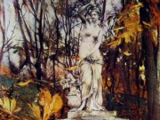 "Джованни Больдини (Giovanni Boldini), ""Statue in the Park of Versailles"""
