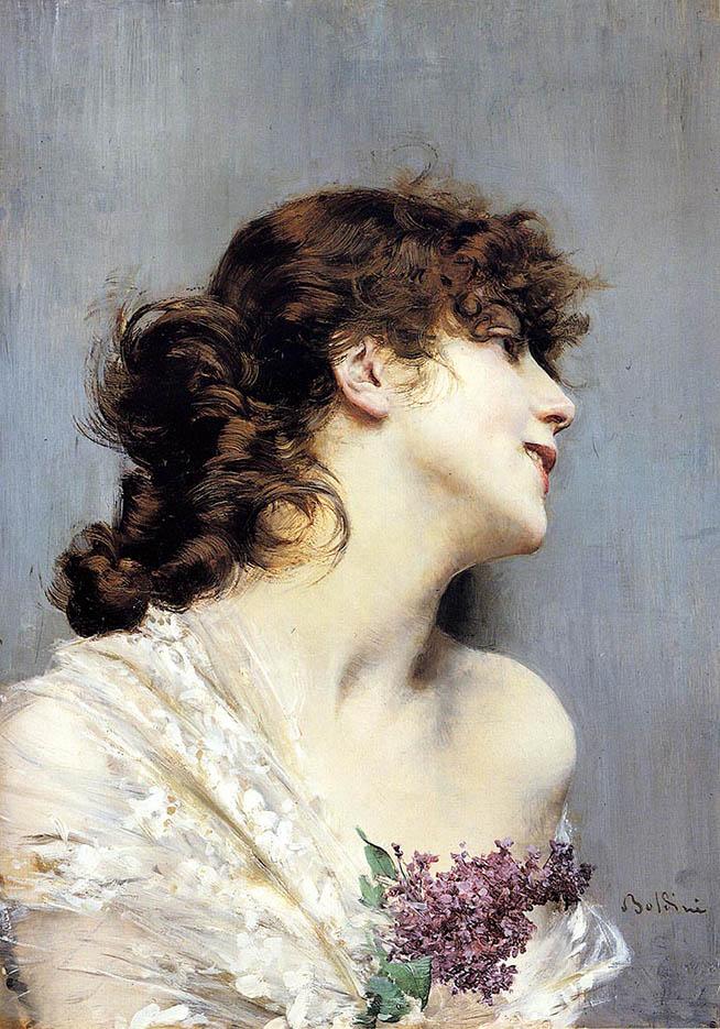 """Джованни Больдини (Giovanni Boldini), """"Молодая женщина в профиль"""""""